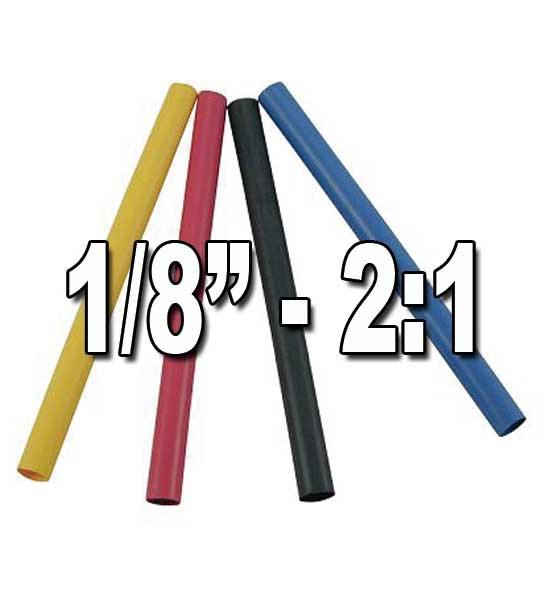 "1/8"" 2:1 Single/Thin Wall Heat Shrink Polyolefin Tubing"