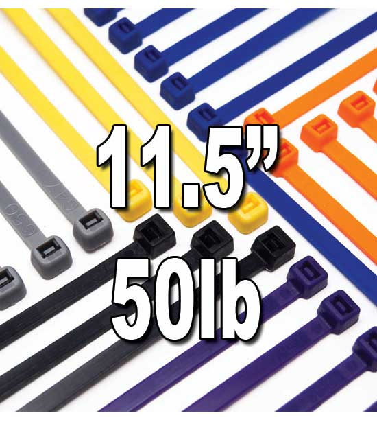 Cable Ties-Nylon 11.5 inch Other names Wire Ties • Zip Ties • Quick Ties • Wire Wraps • Tie Wraps