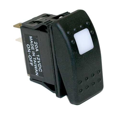 SPST 12 V Carling Technologies Rocker Switch Body Lighted ON//Off