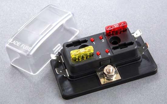 automotive fuses \u0026 relays ATC Fuse Holder 2451f 4 position atc ato fuse block with led indicator light 2451f 4