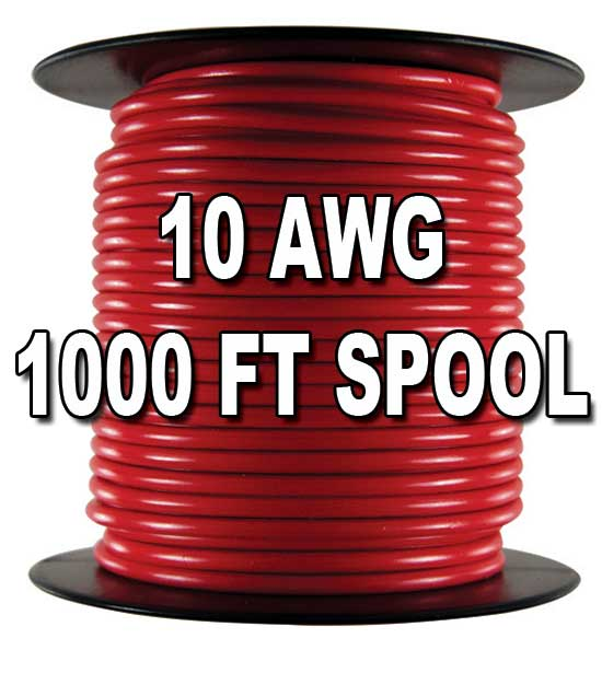Automotive Primary Wire, 10 AWG, 1,000 Ft.  Automotive Primary Wire, 10 AWG, 1,000 Ft.