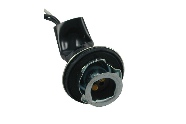 3-Wire Chrysler & GM Double Contact Side Marker, Park, Stop, Tail & Turn Light Socket w/ Weather Resistant Neoprene Boot.