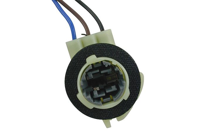3-Wire GM 90° Double Contact Park, Stop, Tail & Turn Light Socket.