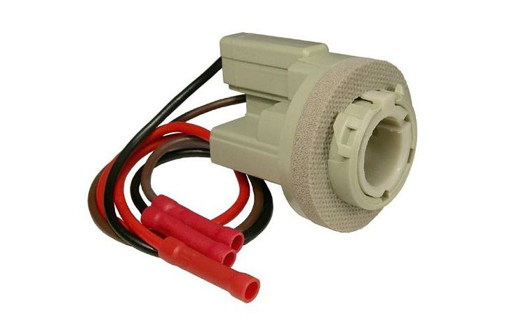3-Wire Ford Double Contact Stop, Tail & Turn Light Socket w/ Butt Terminated Wires.