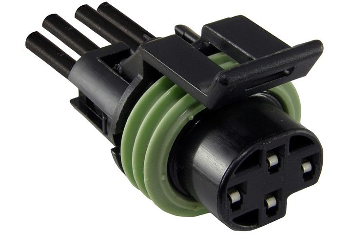 4-Wire/4-Pin GM Oil Pressure Switch Connector.