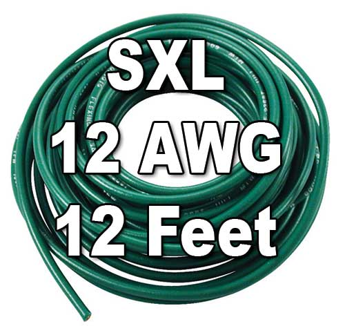 SXL Cross-Linked Wire, 12 AWG, 12 Ft Cut SXL Cross-Linked Wire, 12 AWG, 12 Ft Cut