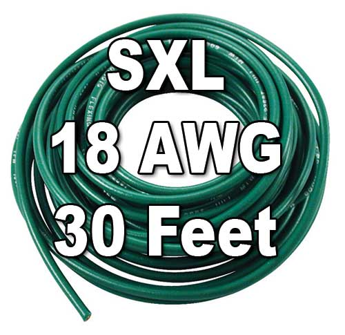 SXL Cross-Linked Wire, 18 AWG, 30 Ft Cut SXL Cross-Linked Wire, 18 AWG, 30 Ft Cut