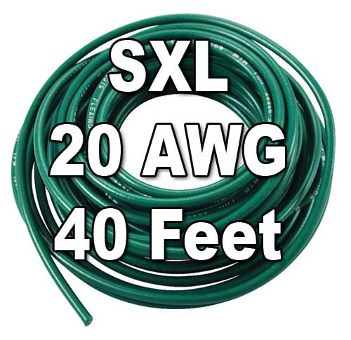 SXL Cross-Linked Wire, 20 AWG, 40 Ft Cut SXL Cross-Linked Wire, 20 AWG, 40 Ft Cut