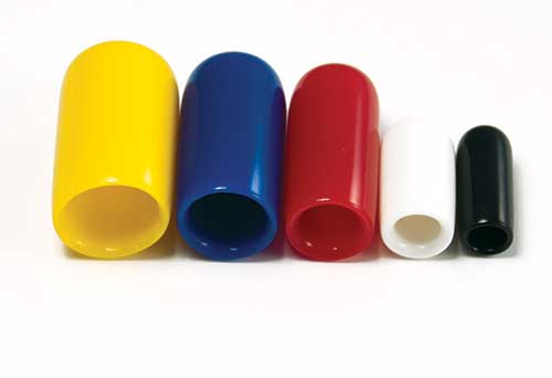Assorted Rainbow Vinyl Vacuum Caps 35 Pcs.