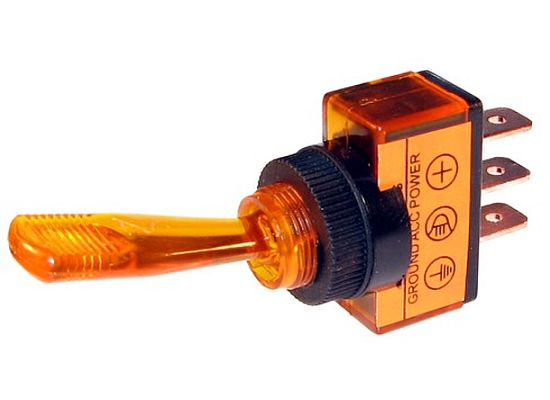 Lighted Toggle Switch: 20 AMP @ 12 Volt S.P.S.T. On/Off Toggle Switches 20 AMP @ 12 Volt,Lighting
